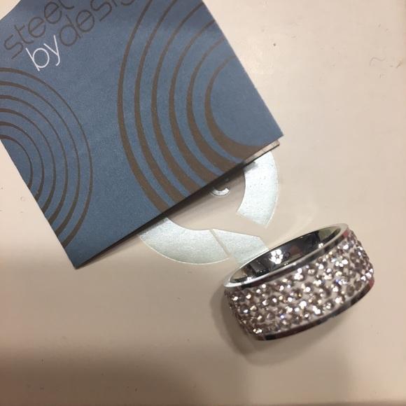 Steel By Design Jewelry Qvc Silk Crystal Steel Design Eternity